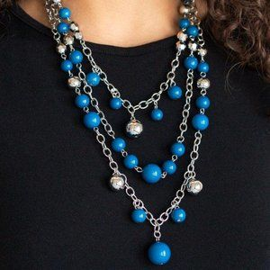 The Partygoer Blue Necklace